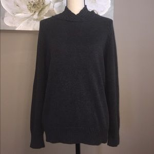 Charcoal Black Knit Sweater